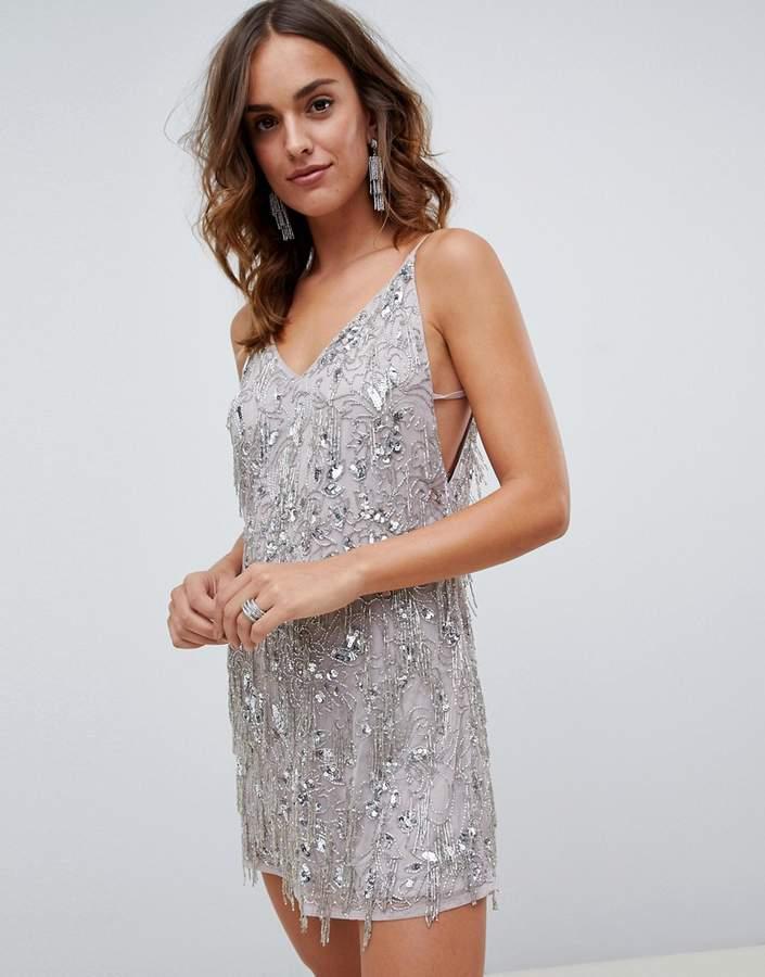 be285616 Asos Fringe Dress - ShopStyle