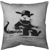 """Gangster Rat Pillow Cover East Urban Home Size: 14"""" x 14"""""""