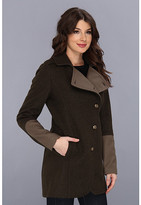 Kenneth Cole New York Asymmetrical Button Front Wool Coat