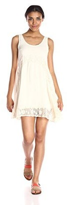 Taylor & Sage Women's Lace Trim Tank Dress
