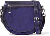 Rebecca Minkoff Astor metallic brushed-leather shoulder bag