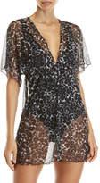 Jordan Taylor Cheetah Mesh Cover-Up Dress
