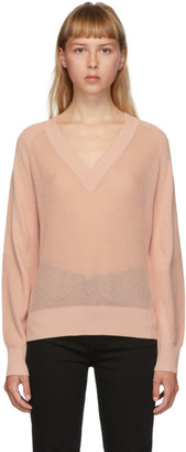 Rag & Bone Pink Adaya V-Neck Sweater