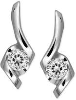 Sirena Diamond Swirl Earrings in 14k White Gold (1/4 ct. t.w.)