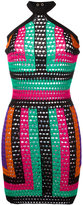 Balmain geometric print dress - women - Polyamide/Viscose - 40