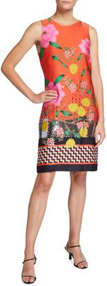 Kobi Halperin Bonnie Mixed Print Sheath Dress