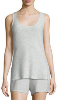 Neiman Marcus Basic Textured Cashmere Tank