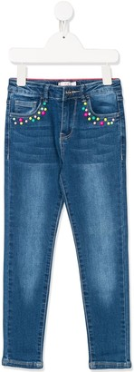 Billieblush Extra-stretch Embroidered jeans
