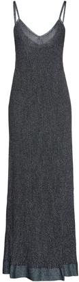 M Missoni Metallic Pointelle-knit Maxi Slip Dress