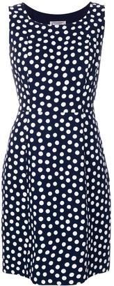Yves Saint Laurent Pre Owned Polka Dot-Print Sleeveless Dress