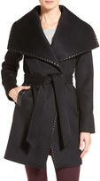 Elie Tahari Women's Whipstitch Wool Blend Wrap Coat
