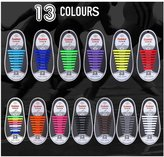 DODJIVI No Tie Shoe Laces, Silicone Shoelaces Lock Bands for Adults - 16pcs DIY, Eco-Friendly & Waterproof