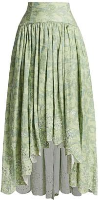 AMUR Santana Print Skirt