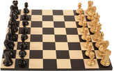 Purling London - Bold Chess Set - Metallic Gold - v Shadow Black