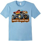 Monster Trucks Rock T-Shirt for Kids, Boys & Men's
