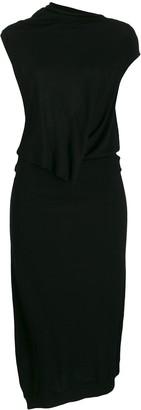McQ asymmetric jersey dress
