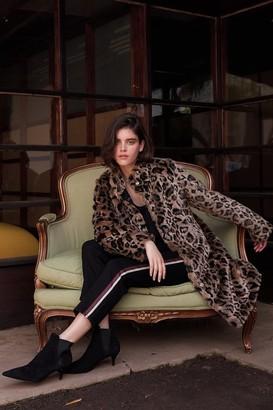 Velvet by Graham & Spencer Chrissie Leopard Faux Fur Coat