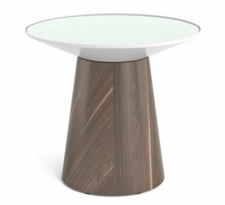 Steelcase Campfire Round Paper Table Base Finish: Virginia Walnut, Style: Glass