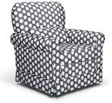 Stork Craft Storkcraft Upholstered Polka-Dot Swivel Glider