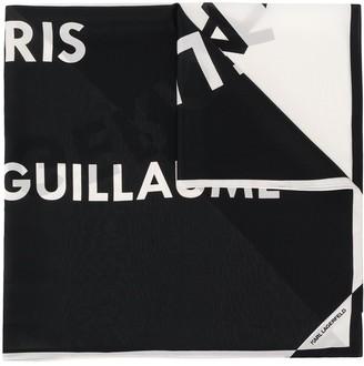Karl Lagerfeld Paris Logo Scarf