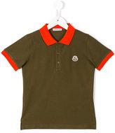 Moncler contrast collar polo shirt - kids - Cotton - 5 yrs