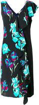 Dvf Diane Von Furstenberg floral print fringed dress
