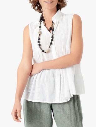 Brora Organic Cotton Sleeveless Blouse, White