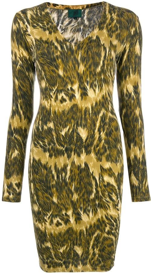 Jean Paul Gaultier Pre-Owned V-neck animal print dress