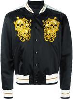 Alexander McQueen skull embroidered bomber jacket - men - Silk/Cotton/Polyester/Viscose - 50