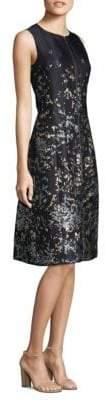 Lafayette 148 New York Brocade Zip Knee-Length Dress