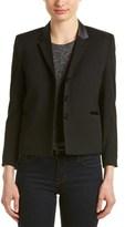 The Kooples Satin-trim Wool-blend Blazer.
