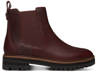 Timberland Leather London Square Chelsea Ankle Boots with Chunky Heel