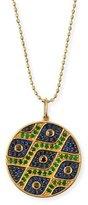 Sydney Evan Multi-Eye Black Diamond & Sapphire Medallion Necklace