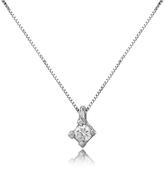 Forzieri 0.03 ct Diamond Solitaire Pendant 18K Gold Necklace