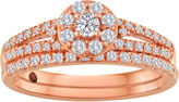 JCPenney MODERN BRIDE 1/2 CT. T.W. Diamond 10K Rose Gold Bridal Ring Set
