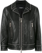 DSQUARED2 Lou jacket - women - Calf Leather/Polyester - 40
