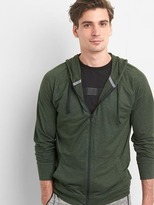 Gap Brushed tech jersey zip hoodie