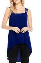 Vince Camuto Grommet Strap High/Low Blouse
