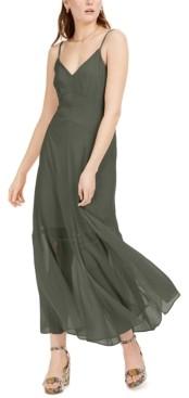 Bar III Solid Crinkle Maxi Dress, Created for Macy's