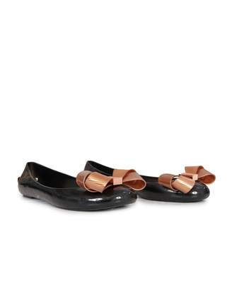 Ted Baker Bow Front Jelly Pumps Colour: BLACK, Size: UK 3