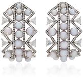 Nikos Koulis Lingerie Pearl Earrings