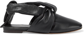 3.1 Phillip Lim Maia Tie-detailed Leather Slippers