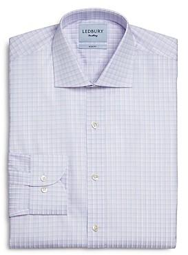 Ledbury Cloverly Cotton Check Slim Fit Dress Shirt