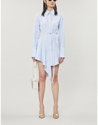 Off-White Waves branded-pattern cotton mini dress