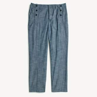 Tommy Hilfiger Chambray Cropped Sailor Pant