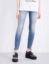 R 13 Jenny frayed-hem skinny mid-rise jeans