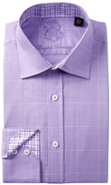 English Laundry Glen Plaid Trim Fit Dress Shirt