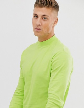 New Look turtle neck long sleeve t-shirt in neon yellow