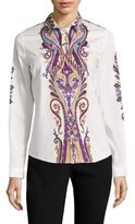 Etro Paisley Cotton Poplin Shirt