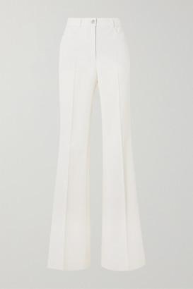 Akris Farid Stretch Cotton-blend Straight-leg Pants - White
